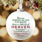 Personalized Heaven In Our Home Memorial Christmas Ornament
