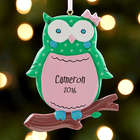 Personalized Owl I Want For Christmas Ornament