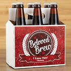 Personalized Beloved Brew Bottle Carrier