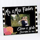 Personalized Modern Chic Wedding Picture Frame