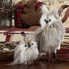 Realistic Resin Snowy Owls