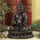 Buddha Fountain with Lighted Lotus Flower