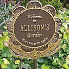 Personalized Garden Flower Garden Plaque