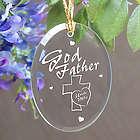 Godfather Personalized Oval Glass Ornament