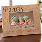 Personalized Triplets 4x6 Picture Frame