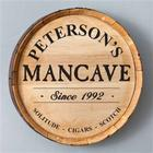 Mancave Personalized Barrel Sign