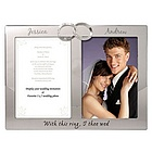 Wedding Rings Double Photo Frame