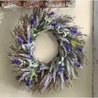 Faux Lavender Heather Spiral Vine Wreath