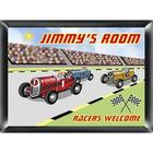 Children's Personalized Racer Room Sign