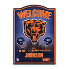Personalized Chicago Bears Welcome Wall Sign