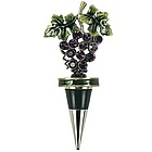 Enameled Grape Bottle Stopper with Crystals
