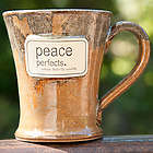 Peace Handcrafted Ceramic Coffee Mug