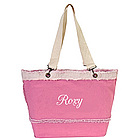 Personalized Pink Denim Tote
