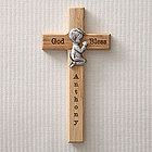 Personalized Wall Cross with Praying Boy