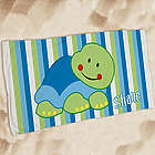 Kid's Personalized Turtle Beach Towel