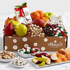 Snacks, Sweets, and Fruits Gift Box with Merry Christmas Ribbon