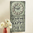 You are My Sunshine Sign Clock