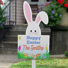 Personalized Easter Bunny Outdoor Wood Stake