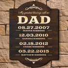My Greatest Blessings Call Me Dad Personalized Wall Sign