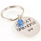 Great Grandma Handstamped Keychain