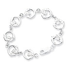 Sterling Silver Irish Claddagh Bracelet