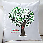Tree of Words Personalized Pillow