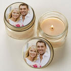 Personalized Picture Mason Jar Candle Favors