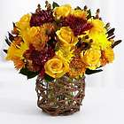 Autumn Sunshine Yellow Rose Centerpiece