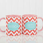 Preppy Chic Chevron Coffee Mug