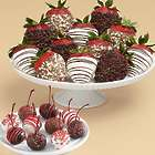 10 Christmas Cherries & 12 Chocolate Chip Covered Strawberries