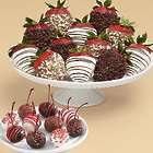 10 Christmas Cherries & 12 Chocolate Chip Covered Strawberries