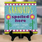 Personalized Grandchildren Spoiled Here Canvas Art Print