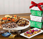 Nut and Chocolate Holiday Gift Tower