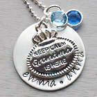 Keep Calm Grandma Is Here Personalized Hand-Stamped Necklace