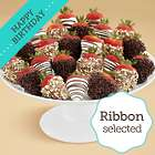 2 Full Dozen Dipped Fancy Strawberries with Happy Birthday Ribbon