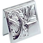 Engravable Silver Plated Purse Compact