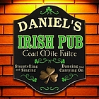 Golden Clover Personalized Irish Pub Sign