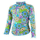 Girl's Long Sleeve Ruche Swim Shirt UPF 50+
