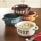 Stoneware Soup Bowl Set