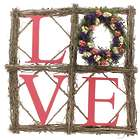 Pop Art Love Sign with Miniature Wreath