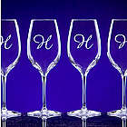 Personalized Crystal White Wine Set