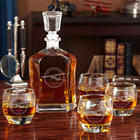 Aviator Engraved Argos Decanter Set with Uptown Glasses