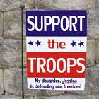 Personalized Support Our Troops Garden Flag in Red, White, & Blue