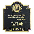 Personalized Sun Poem Monogram Welcome Plaque