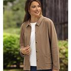 Women's Knit Denim Jacket
