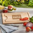Personalized Daddio of the Patio Wood Cutting Board