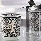 Damask Glass Tealight Holder Favors