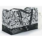 Black & White Damask Tote Bag