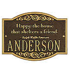 Personalized Emerson Welcome Plaque
