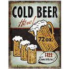 Cold Beer Heavy Metal Sign